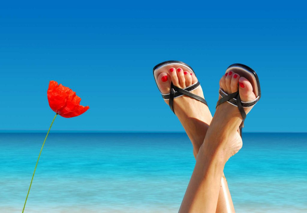 image of feet that dont smell at tropical paradise