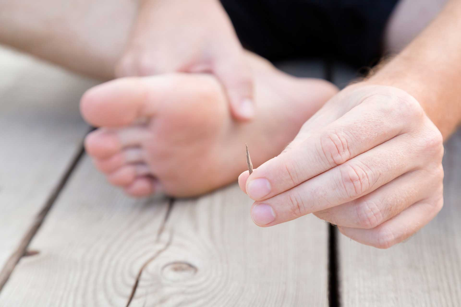 image of splinter foot sterling foot doctor