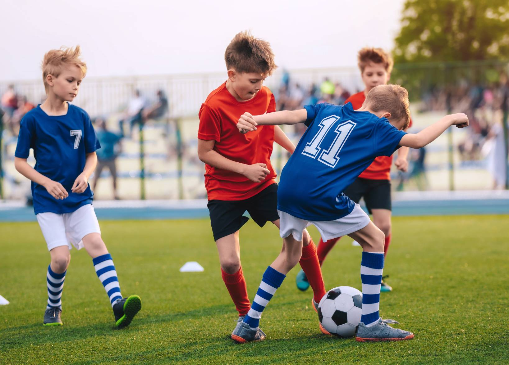 Image of kids playing soccer