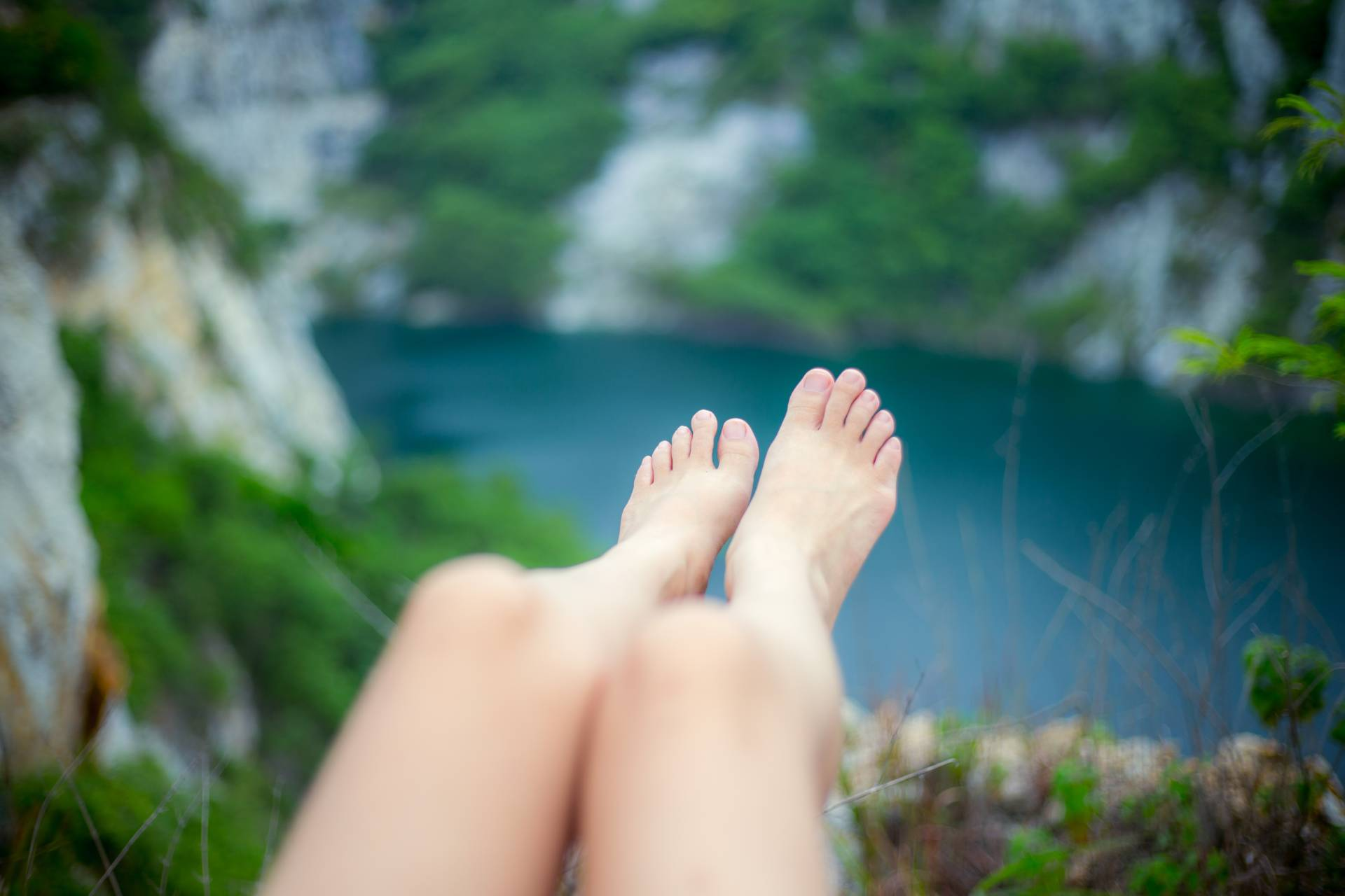 image of feet and toes outside enjoying life
