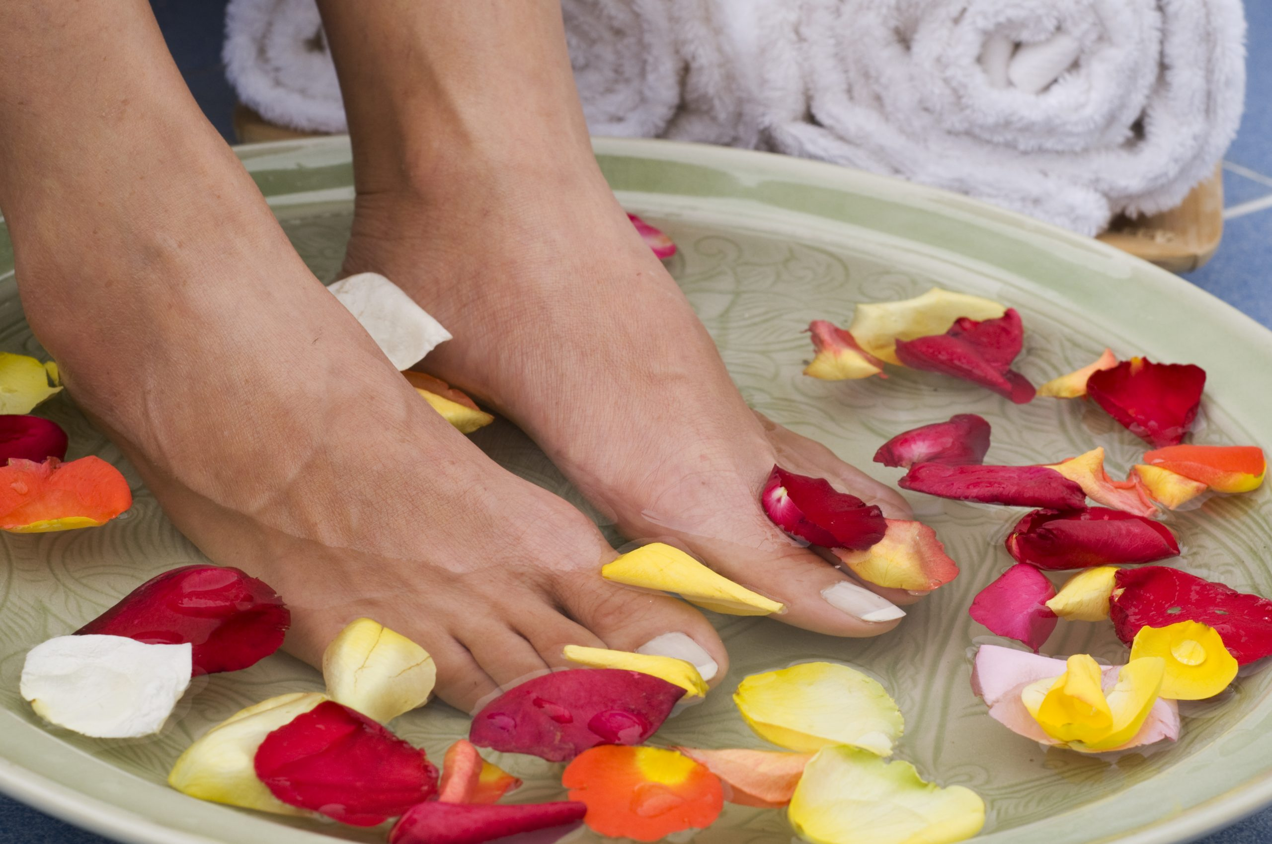 Image of person soaking their feet